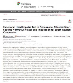Functional Head Impulse Test in Professional Athletes